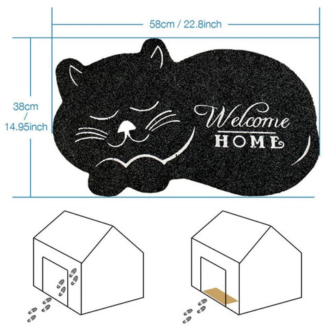 Image of 3D Printed Sleeping Cat Doormats Anti-slip - 36Bucks.com