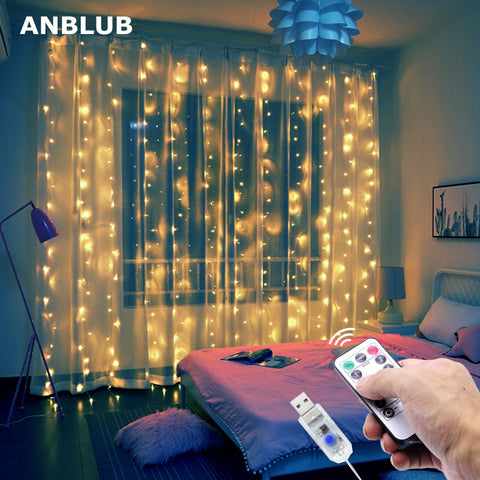 LED Curtain on the Window - 36Bucks.com