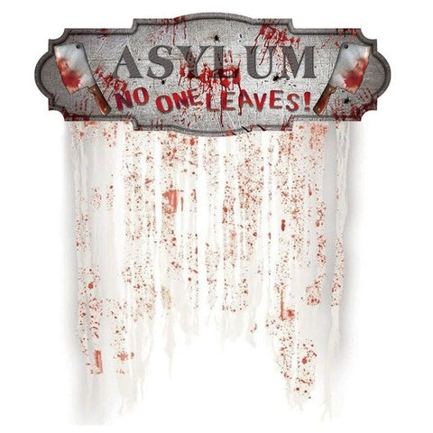 Image of Creative Horror Curtain Hanging Banner - 36Bucks.com