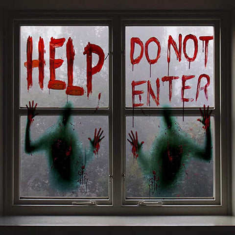 Image of Haunted House Decoration For windows - 36Bucks.com