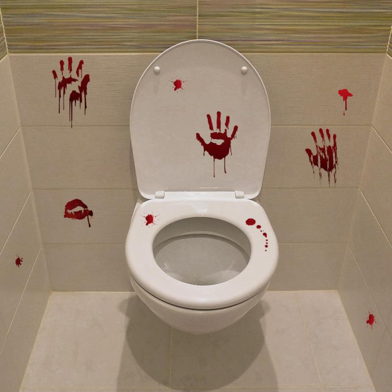 Halloween DIY Skull Toilet Stickers - 36Bucks.com