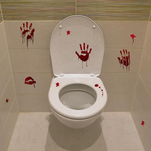 Image of Halloween DIY Skull Toilet Stickers - 36Bucks.com