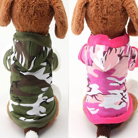 Camouflage Hoodie For Small Dogs