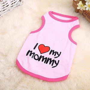 I Love My Mommy - Small Dog Vest