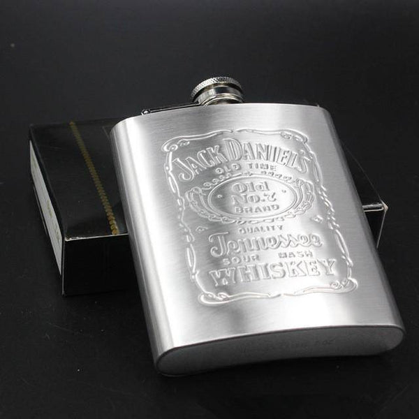 7oz Embossed Flask With Box