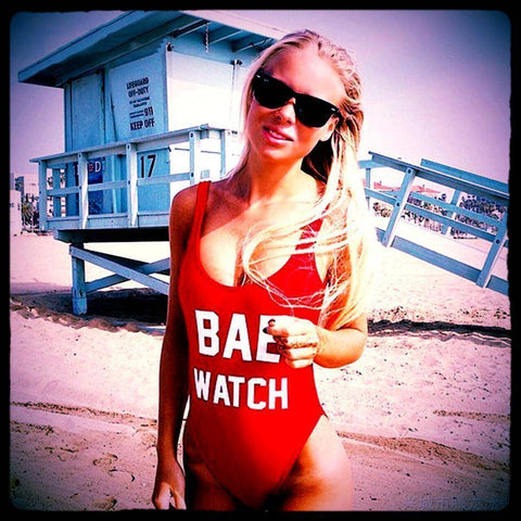 BAE WATCH One Piece Red Swimsuit - HOTTEST Fashion Trend Of 2017!