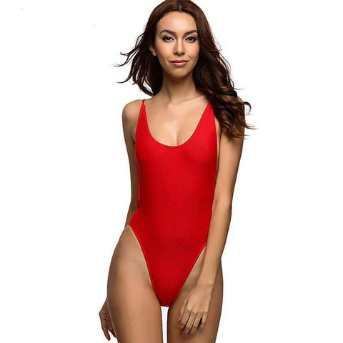 15c6720d81 Image of Classic California One Piece Red Swimsuit - HOTTEST Fashion Trend  Of 2017!