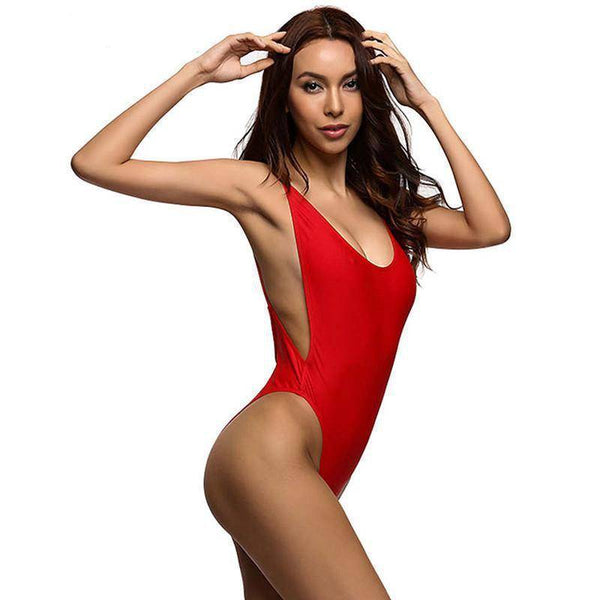 Classic California One Piece Red Swimsuit -  HOTTEST Fashion Trend Of 2017!!