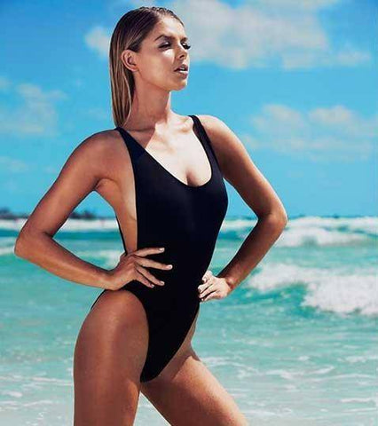 Image of Classic California One Piece Red Swimsuit - HOTTEST Fashion Trend Of 2017!! - 36Bucks.com