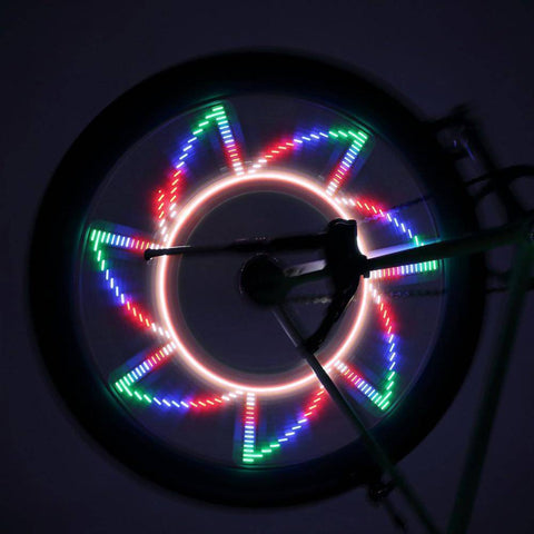 Image of Colorful Bicycle Wheel LED Lights (32 Patterns) - 36Bucks.com
