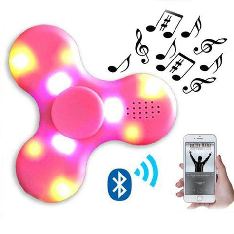 LED Fidget Spinner With Bluetooth Speaker