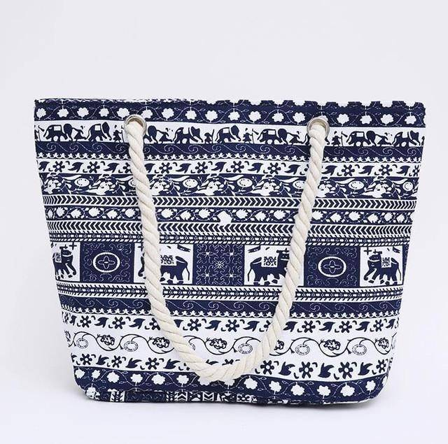 Elephant BOHO Shoulder Beach Bag