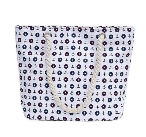 White Sailor Shoulder Beach Bag - 36Bucks.com