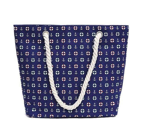 Blue Sailor Shoulder Beach Bag - 36Bucks.com