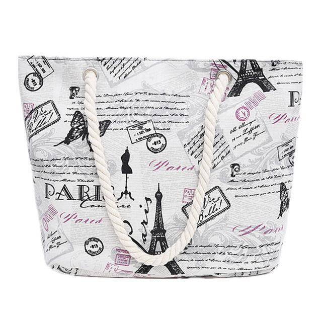 Classic Paris Shoulder Beach Bag - 36Bucks.com