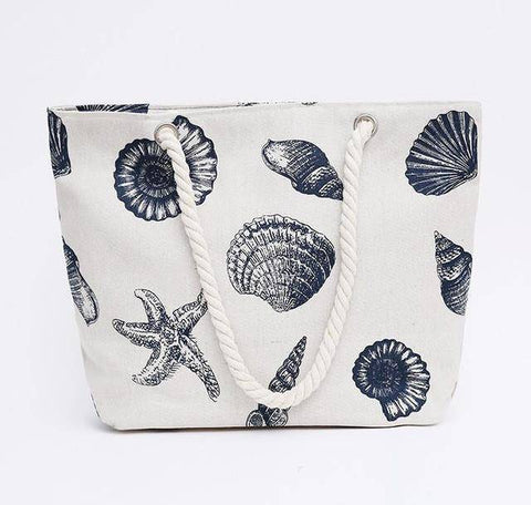 Shells Of The Sea Shoulder Beach Bag - 36Bucks.com
