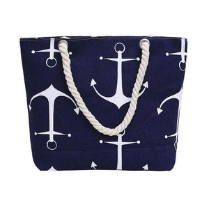 Blue Anchor Shoulder Beach Bag - 36Bucks.com