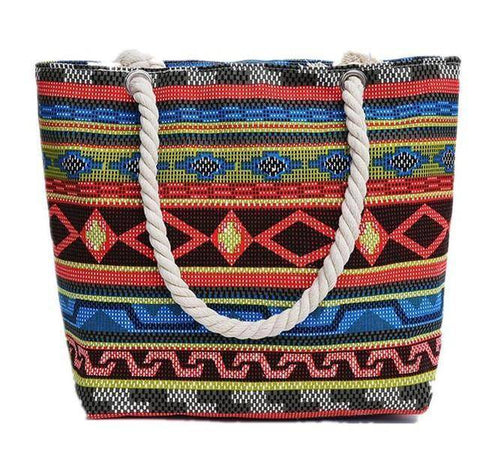 Colorful BOHO Shoulder Beach Bag - 36Bucks.com