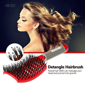 Detangle Boar Bristle Hair Brush - 36Bucks.com