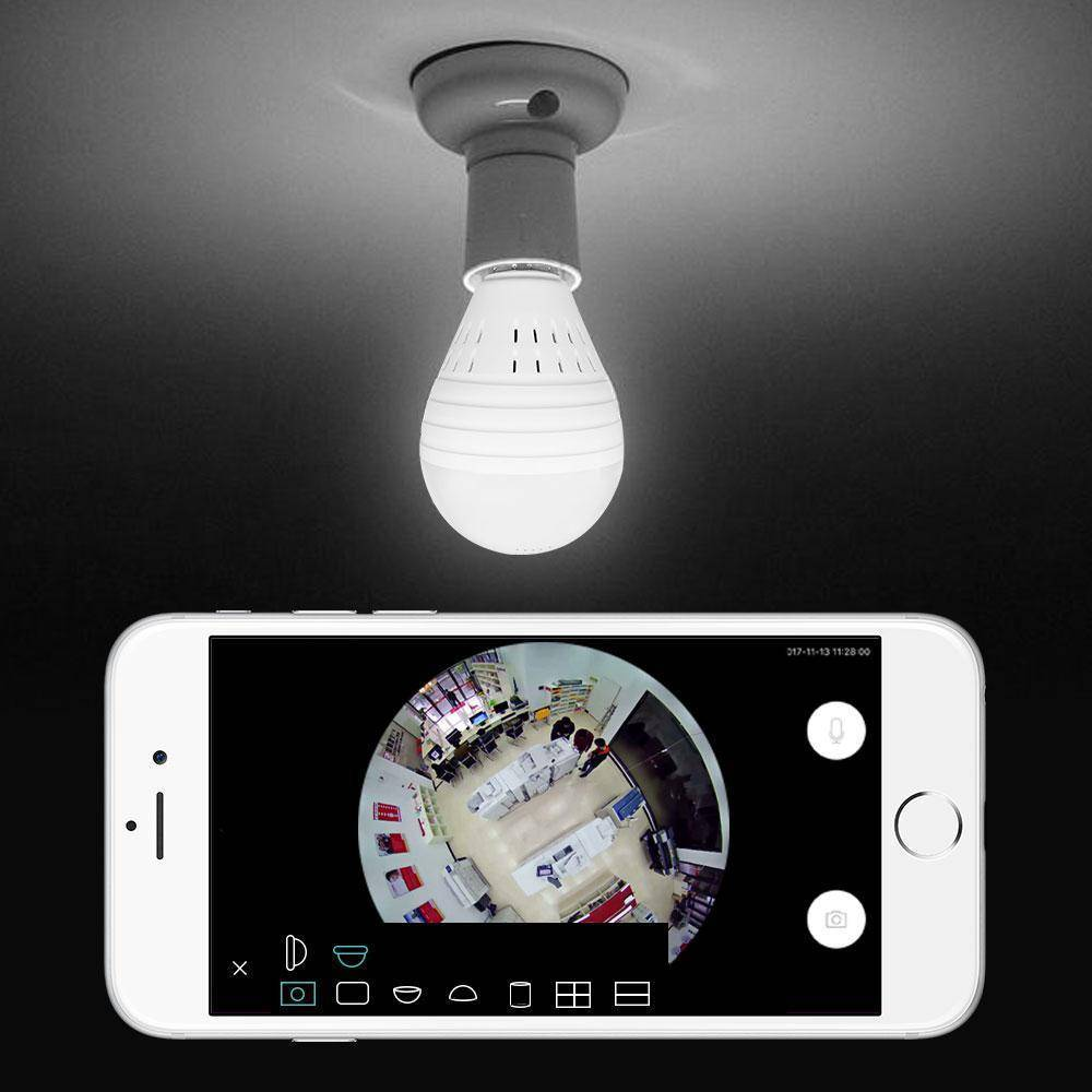 (NEW) iSpyU™ Night Vision WI-FI Security Light Bulb Camera (360 Degree)
