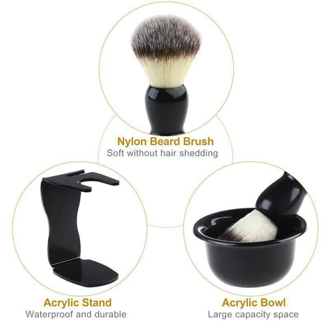 3pcs Shaving Brush Kit (Shave Brush Stand and Bowl) - 36Bucks.com