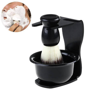 3pcs Shaving Brush Kit (Shave Brush Stand and Bowl)