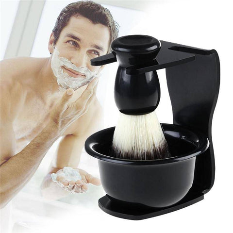 Image of 3pcs Shaving Brush Kit (Shave Brush Stand and Bowl) - 36Bucks.com