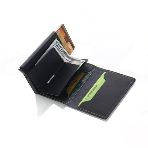 Anti-Theft (RFID) Genuine Leather Wallet With Aluminum Credit Card Holder - 36Bucks.com