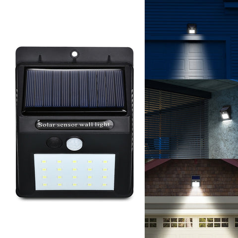 Image of Solar Powered Wall LED Security Light
