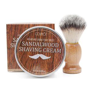 5.2oz Sandalwood Shaving Cream & Beard Shaving Brush
