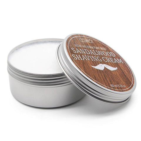 Image of 5.2oz Sandalwood Shaving Cream & Beard Shaving Brush - 36Bucks.com