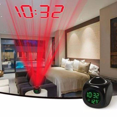 Smart LCD Projection Alarm Clock