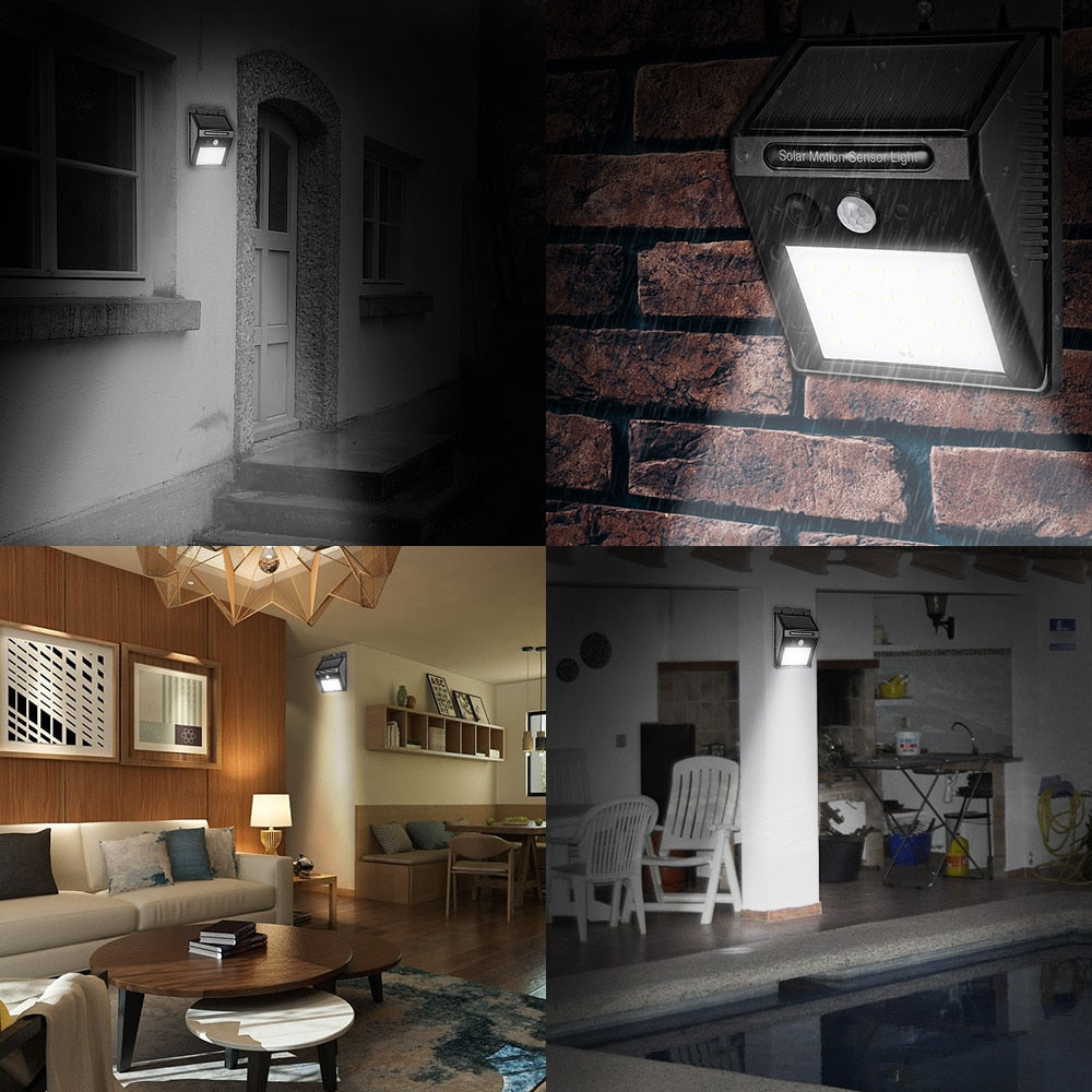 Solar Powered Wall LED Security Light