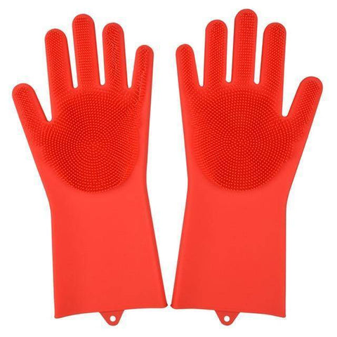 Magic Silicone Gloves (Dish washing, Pets, Cars, Bathroom)