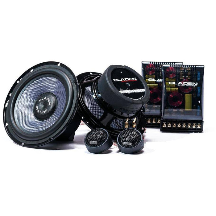Gladen SQX 165 - 6.5inch 2way Component Speaker Set - The Audio Company