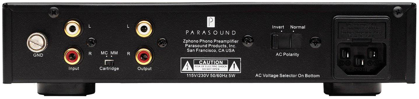 Parasound Zphono - Phono Preamplifier - The Audio Company