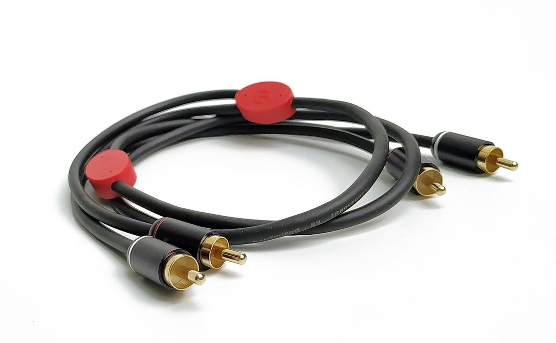 Transparent Hardwired RCA Interconnect - Audiophile RCA Interconnect Cable - The Audio Company