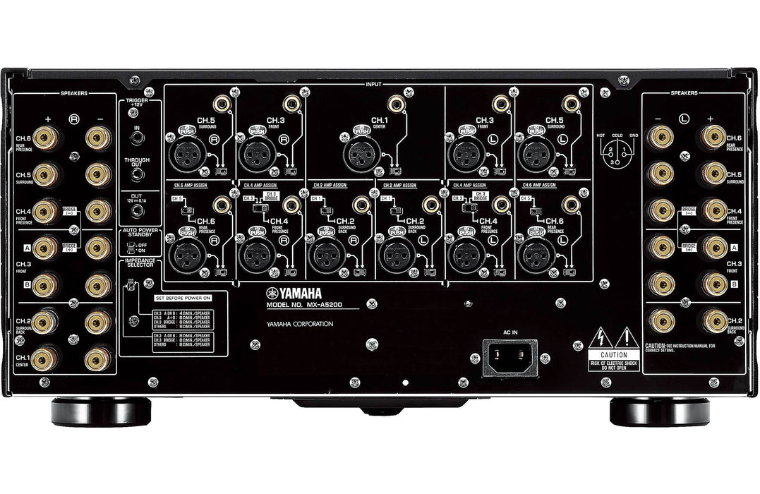 Yamaha AVENTAGE MX-A5200 - 11 Channel Power Amplifier - The Audio Company
