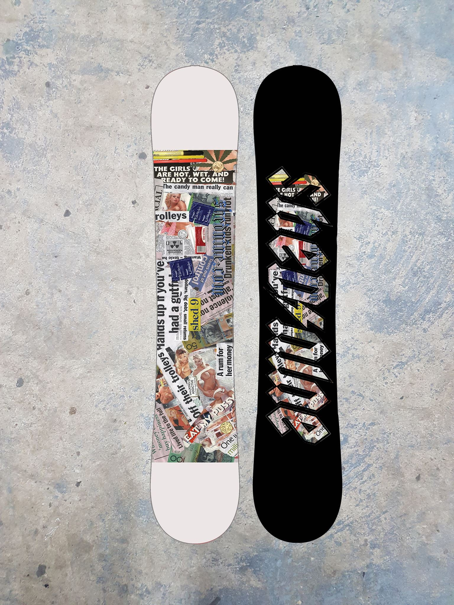 "Shed Nine ""Trash Art"" Custom Snowboard -  Snowboard, Shed Nine, Shed Nine"
