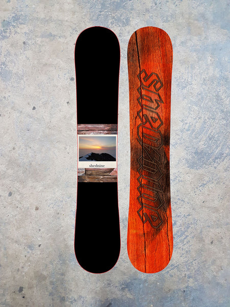 "Shed Nine ""Summit Sunset"" Custom Snowboard -  Snowboard, Shed Nine, Shed Nine"