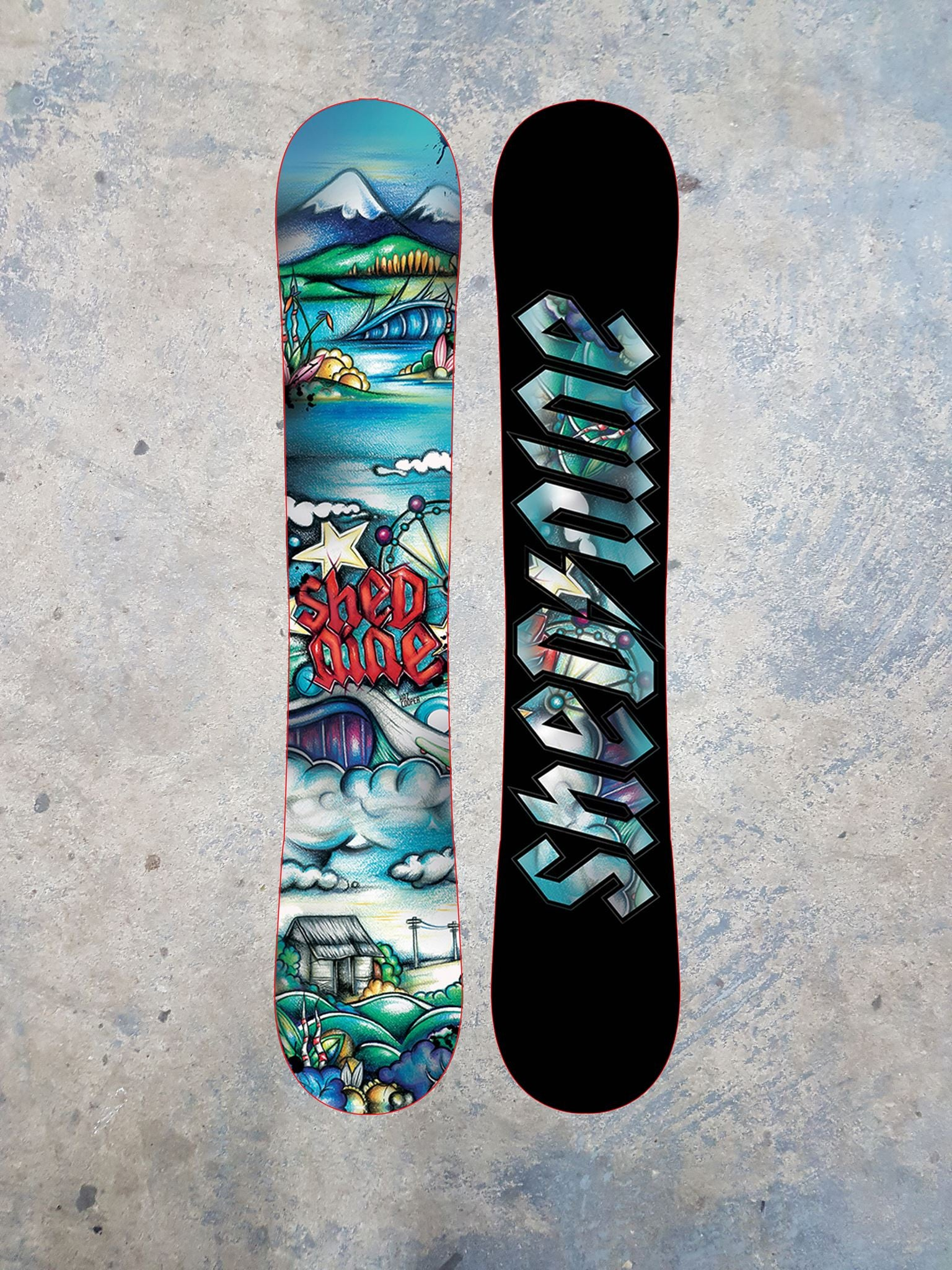 "Shed Nine ""The Derwent"" Custom Snowboard -  Snowboard, Shed Nine, Shed Nine"