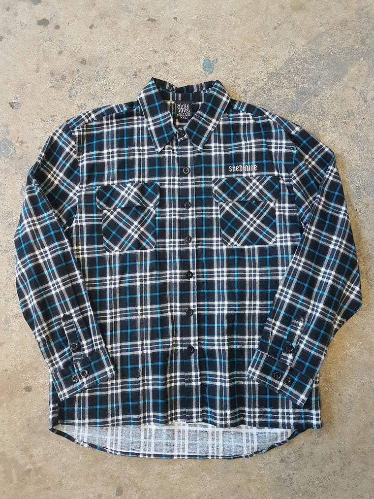 Mens Timeless Button Up Flannelette Check