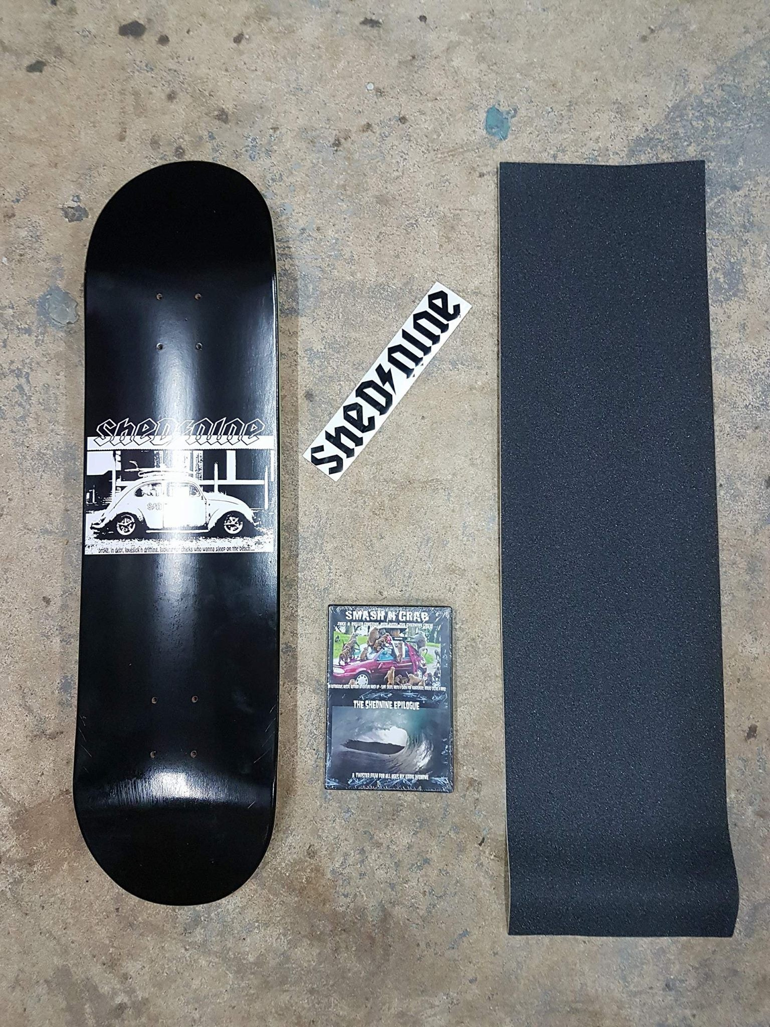 Vee Dub Street Deck, Grip Dvd and Sticker -  Skateboard Deck, Shed Nine, Shed Nine