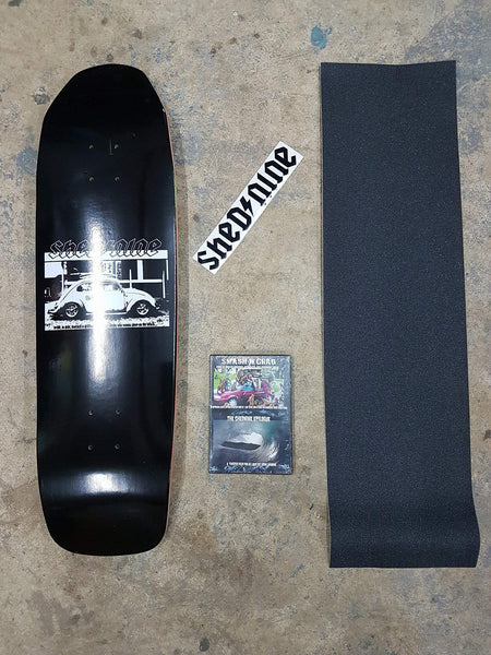 VW Old School 9 Inch Deck, Grip Dvd and Sticker -  Skateboard Deck, Shed Nine, Shed Nine