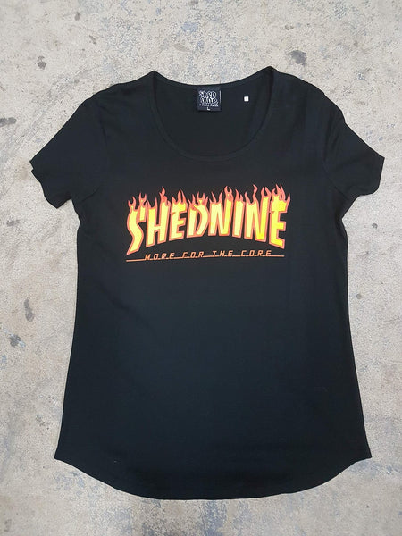 Womens Core Flame Soft Cotton Tee -  Tee, Shed Nine, Shed Nine