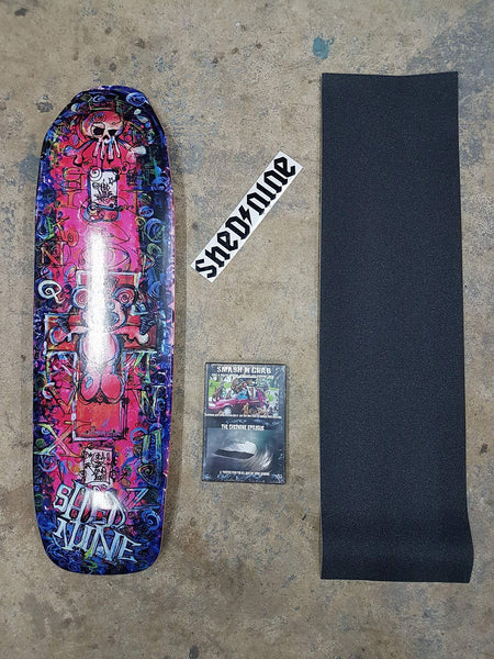 Kill Teddy Cruiser, Grip, Dvd and Sticker -  Skateboard Deck, Shed Nine, Shed Nine