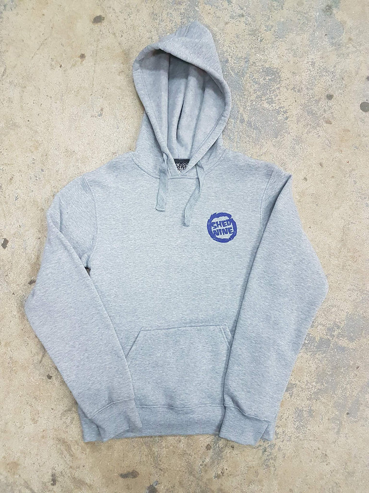 Groms, Wise Hood, Royal on Grey