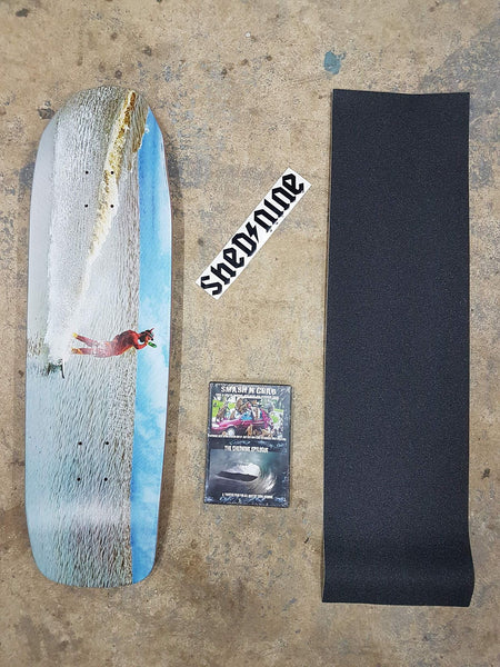 Frothalot Old School 9 Inch Deck, Grip, Dvd and Sticker -  Skateboard Deck, Shed Nine, Shed Nine