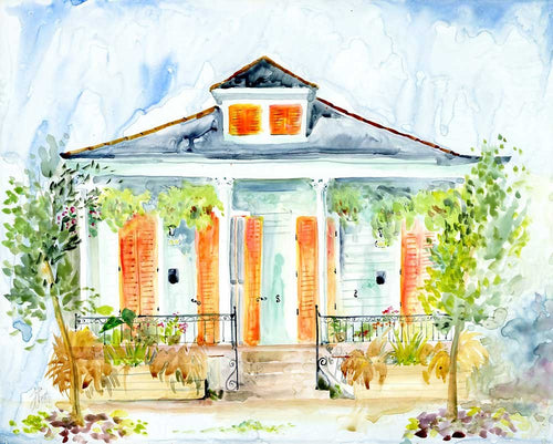 Mandeville House Watercolor Print