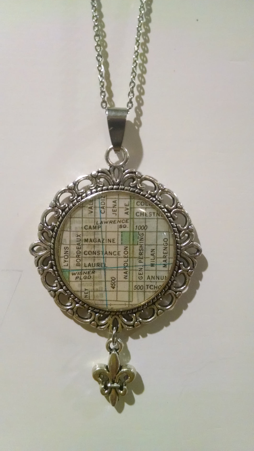 Vintage Map Neclace